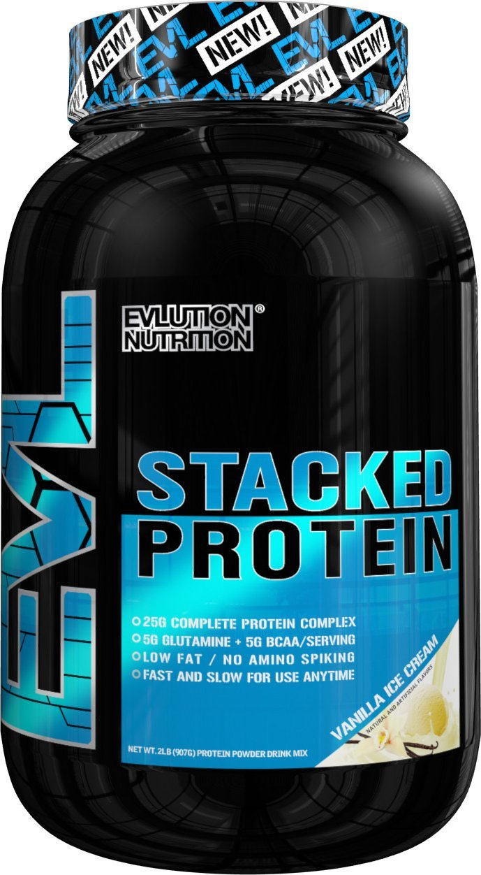 Evlution Nutrition Stacked Protein Powder Vanilla Ice Cream (Vanilla Ice Cream)