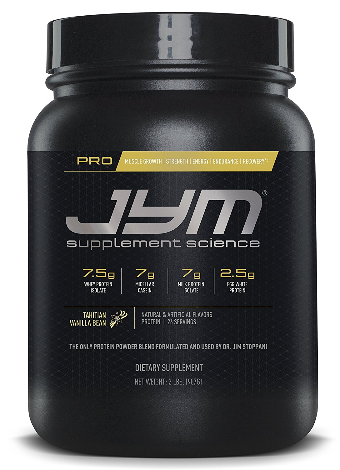 JYM Supplement Science Pro JYM, Tahitian Vanilla Bean, 2 Pound