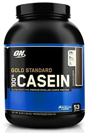 Optimum Nutrition Gold Standard 100% Casein Protein Powder, Chocolate Supreme, 4 Pound