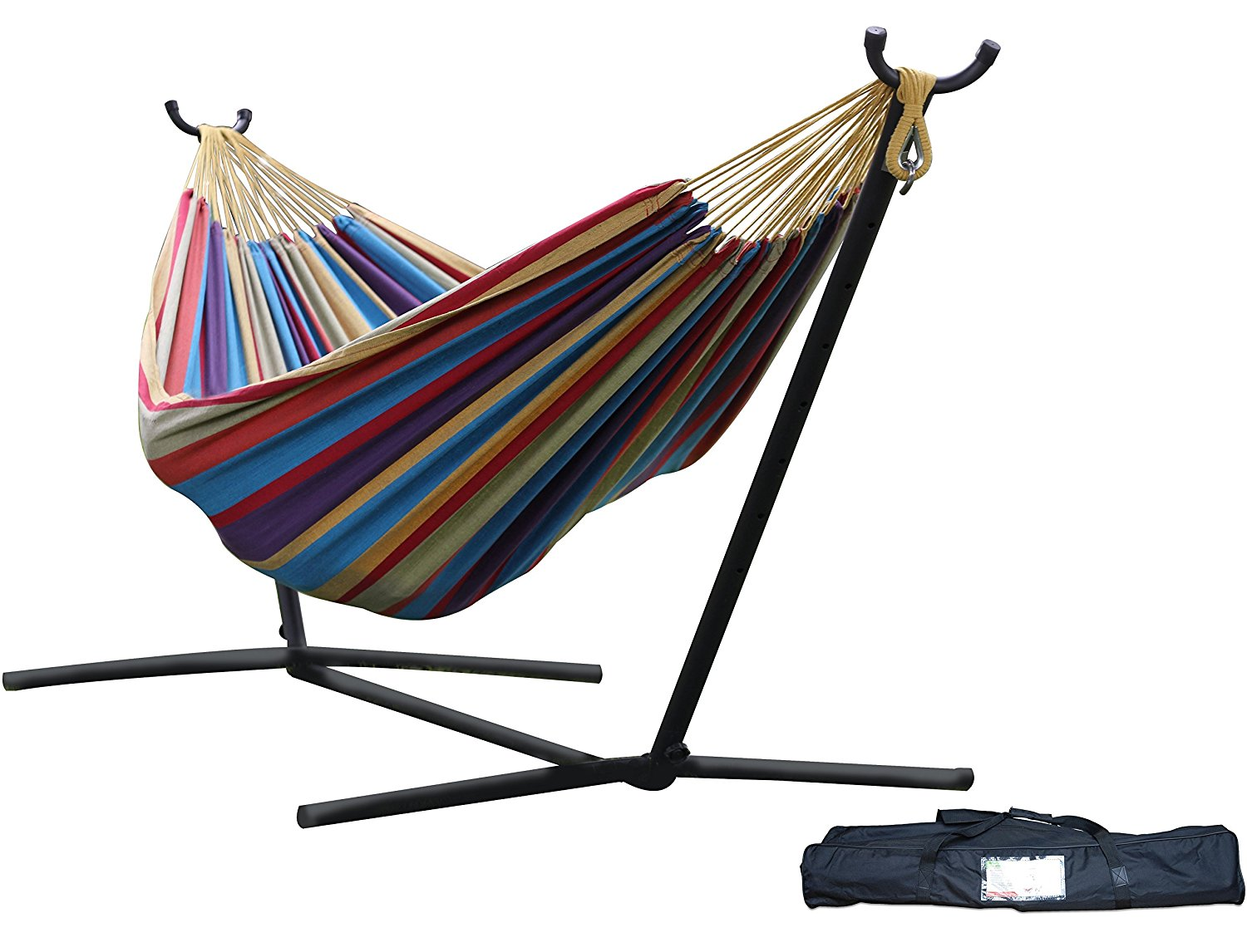 Vivere Double Hammock with Space-Saving Steel S