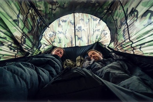 two person camping hammock with mosquito net