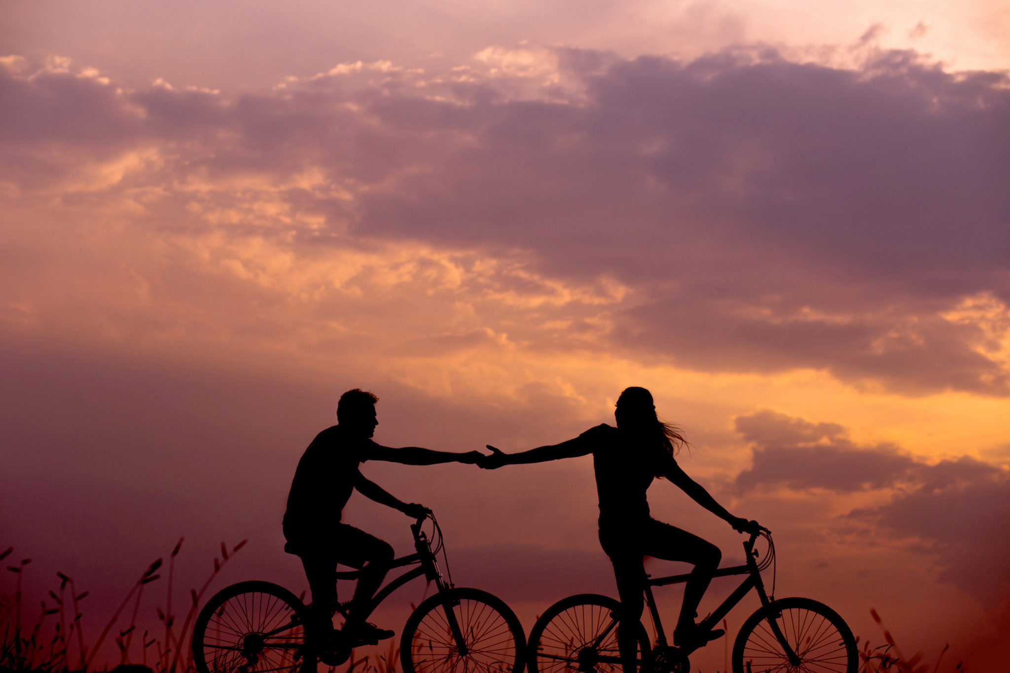 Couples Cycling