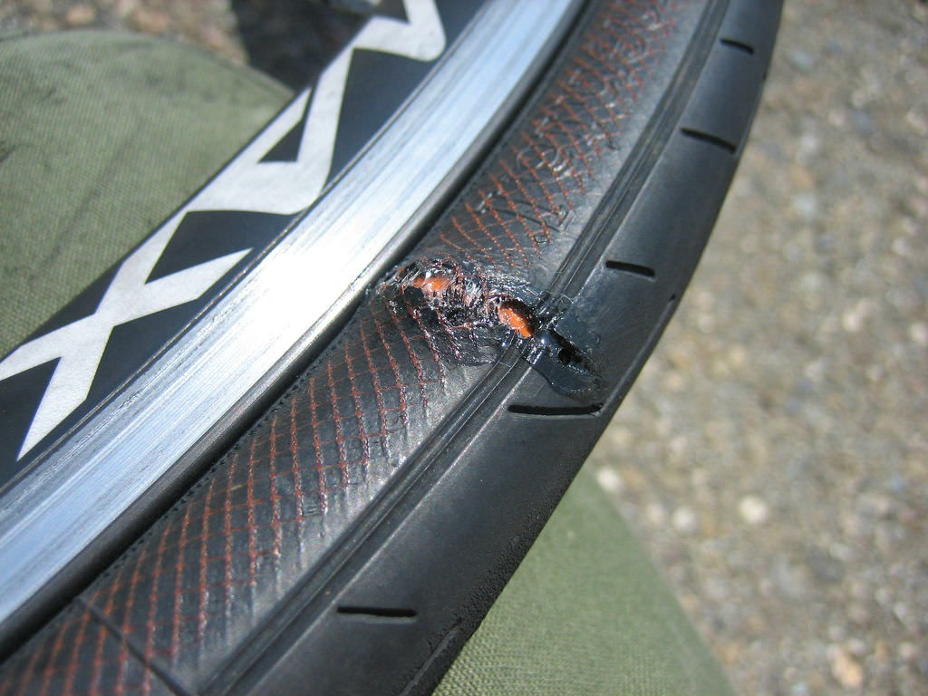 bicycle tire bulge cause