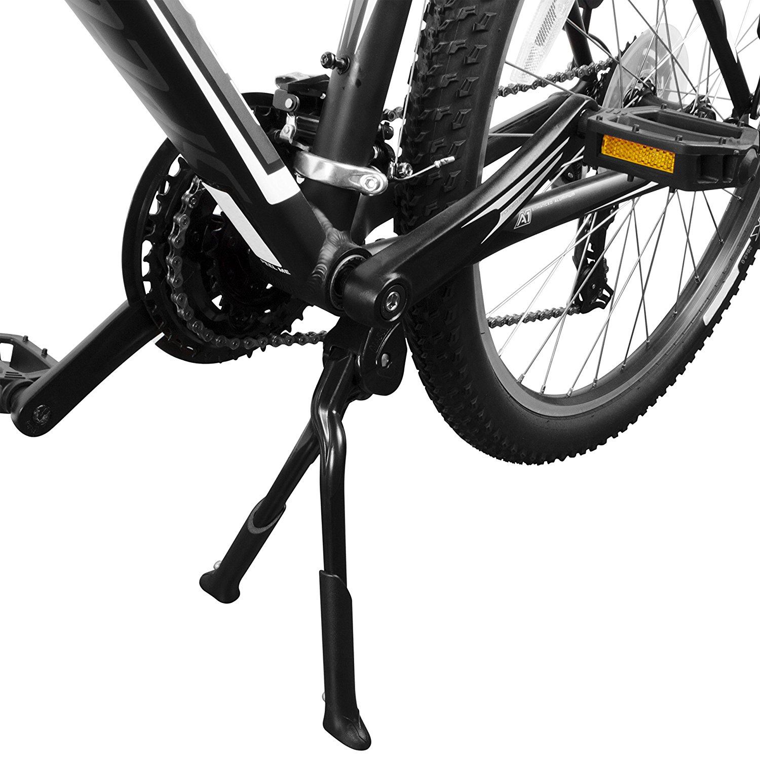 BV-Bicycle-Black-Adjustable-Foldable-Double-Leg-Kickstand-Storage
