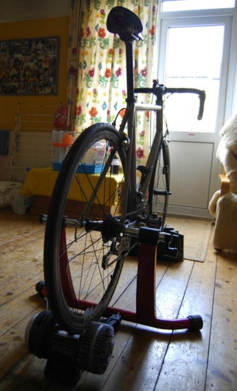 Turbo trainer in your front room